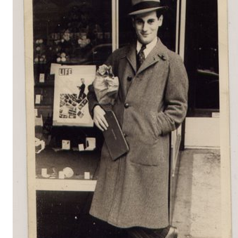Paul Bloom, outside his Springfield shop.