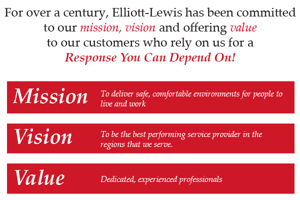 For over a century, Elliott-Lewis has been committed to our mission, vision and offering value to our customers who rely on us for a Response You Can Depend On!