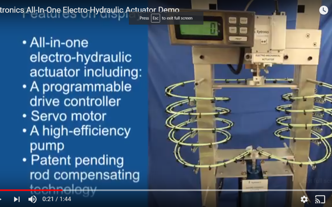 Electro-Hydraulic Actuator in Action!