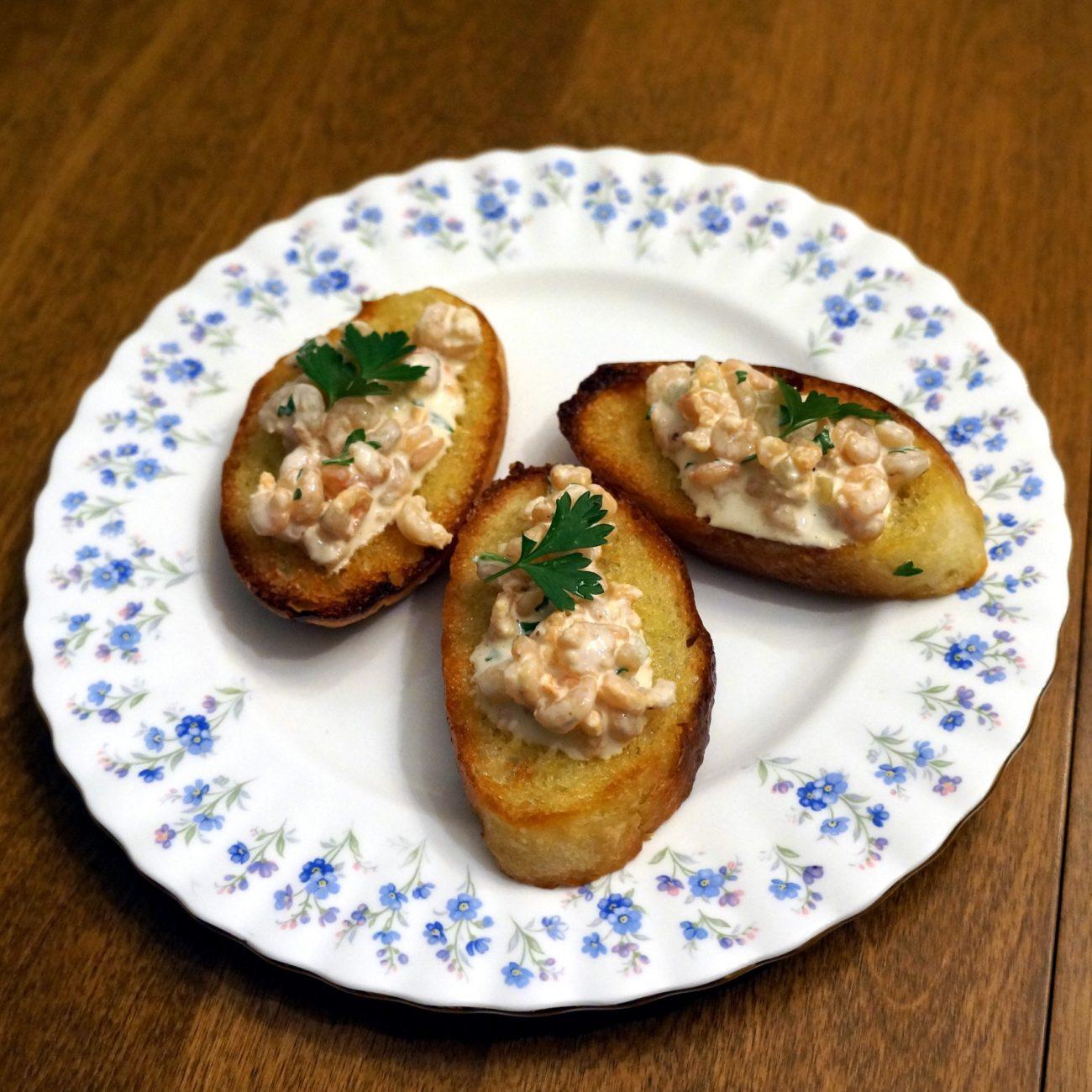 Shrimp Salad Crostini with Tarragon