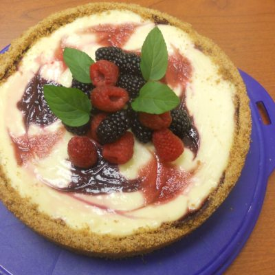 Blackbery swirl cheesecake