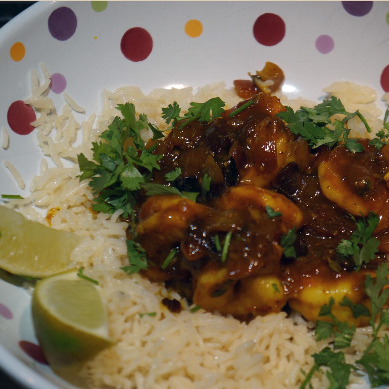 Spicy Coconut Shrimp with Turmeric