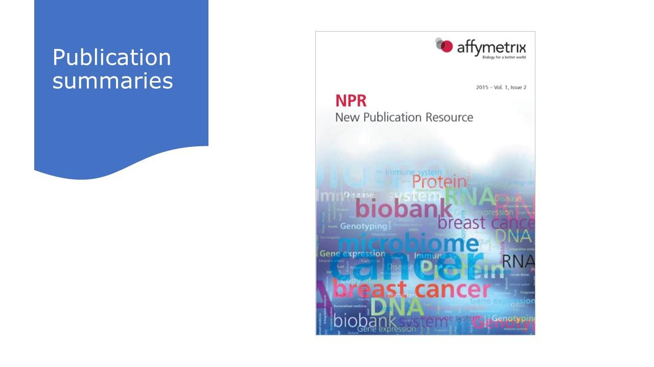 Publication summaries