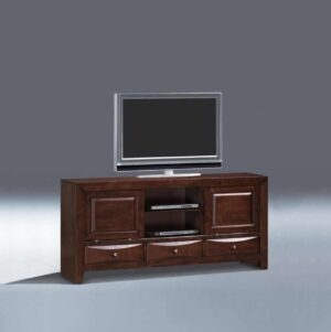 entertainment console wood