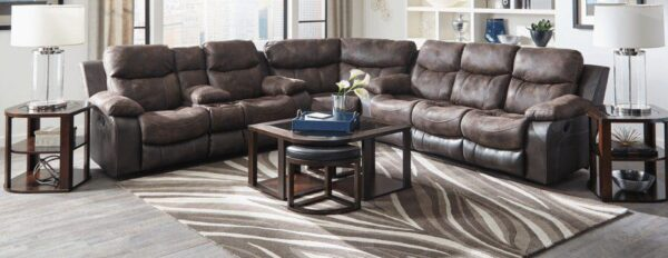 leather sectional living room set
