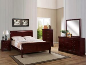 Louis Philip Sleigh Bedroom Set