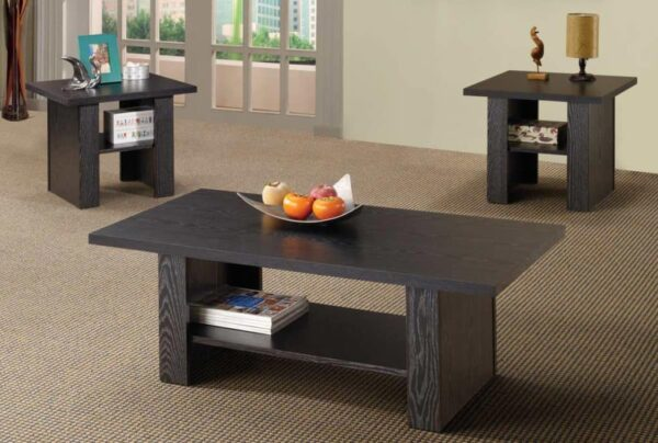 Contemporary 3pc Occasional Set black