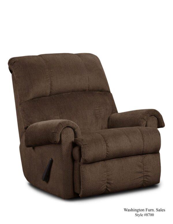 Washington Furniture 8700 Recliner chocolate
