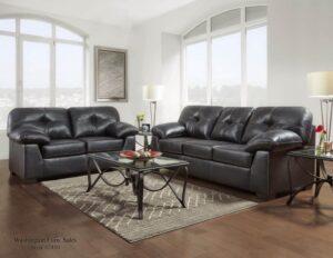 Nevada Black Sofa Set