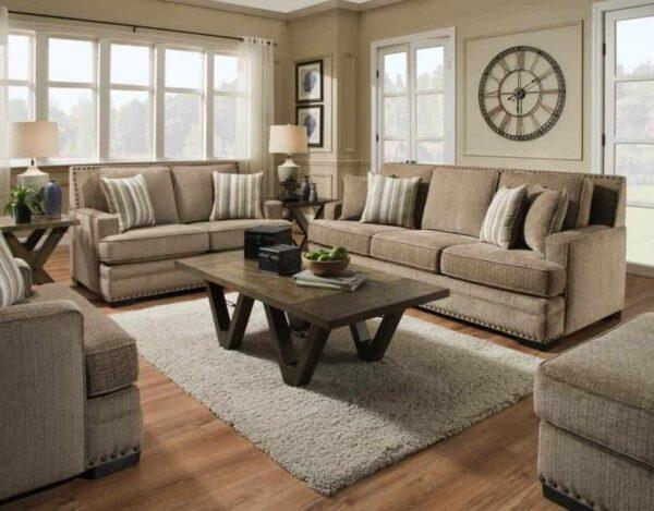 ultimate mushroom sofa & loveseat