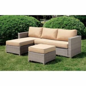 sabina 2pc outdoor set wicker sectional patio