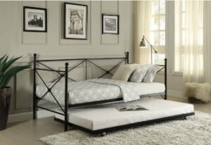 jones metal daybed with trundle guest ready