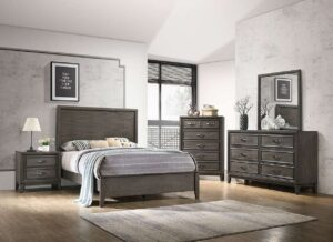 Winchester Grey Panel Bedroom Set Contemporary