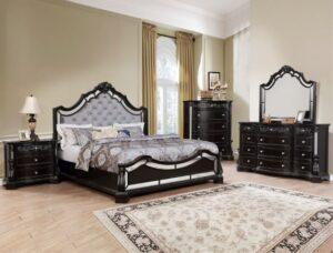 bankston mirrored bedroom set crown mark black