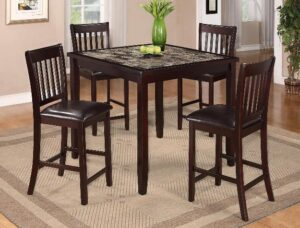 Cascade dining set 5 pc pub height
