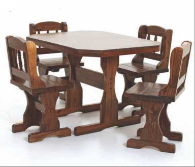 country pub table set rosewood