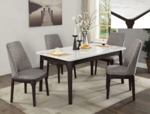 janel dining set marble contemporary