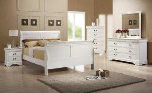 louis philippe white bedroom set full queen