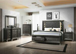margaret bedroom collection glamorous, upholstered