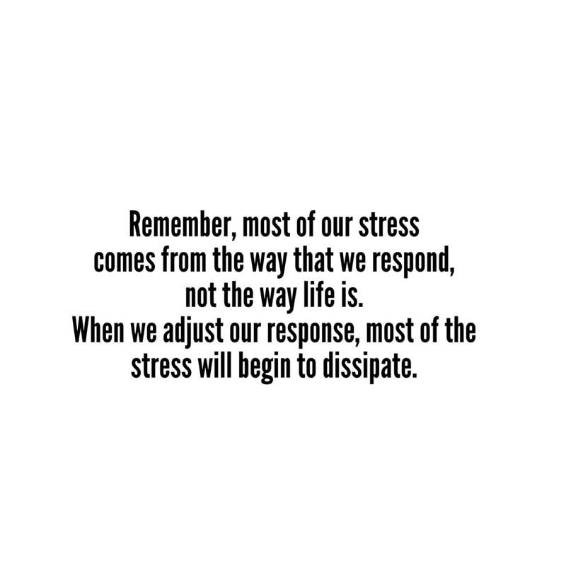 Adjust our response