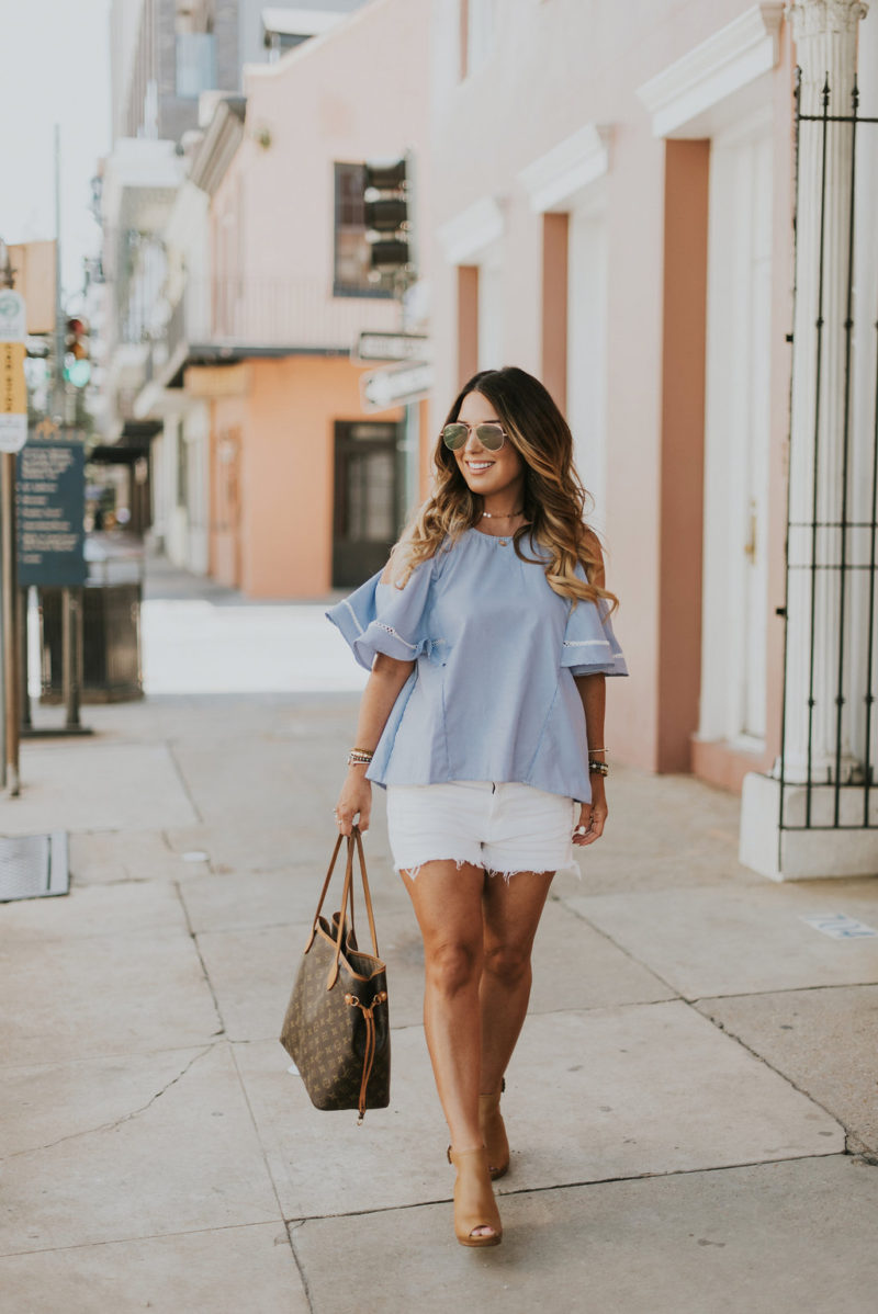 Found the perfect white denim shorts for under $30 for summer. Read more to learn how to rock denim shorts all summer long.