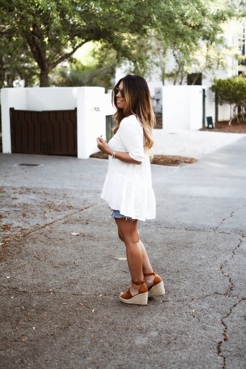 Can never go wrong with the basics. Rounded up my favorite white tops and denim shorts. Read more to check out my favorites.