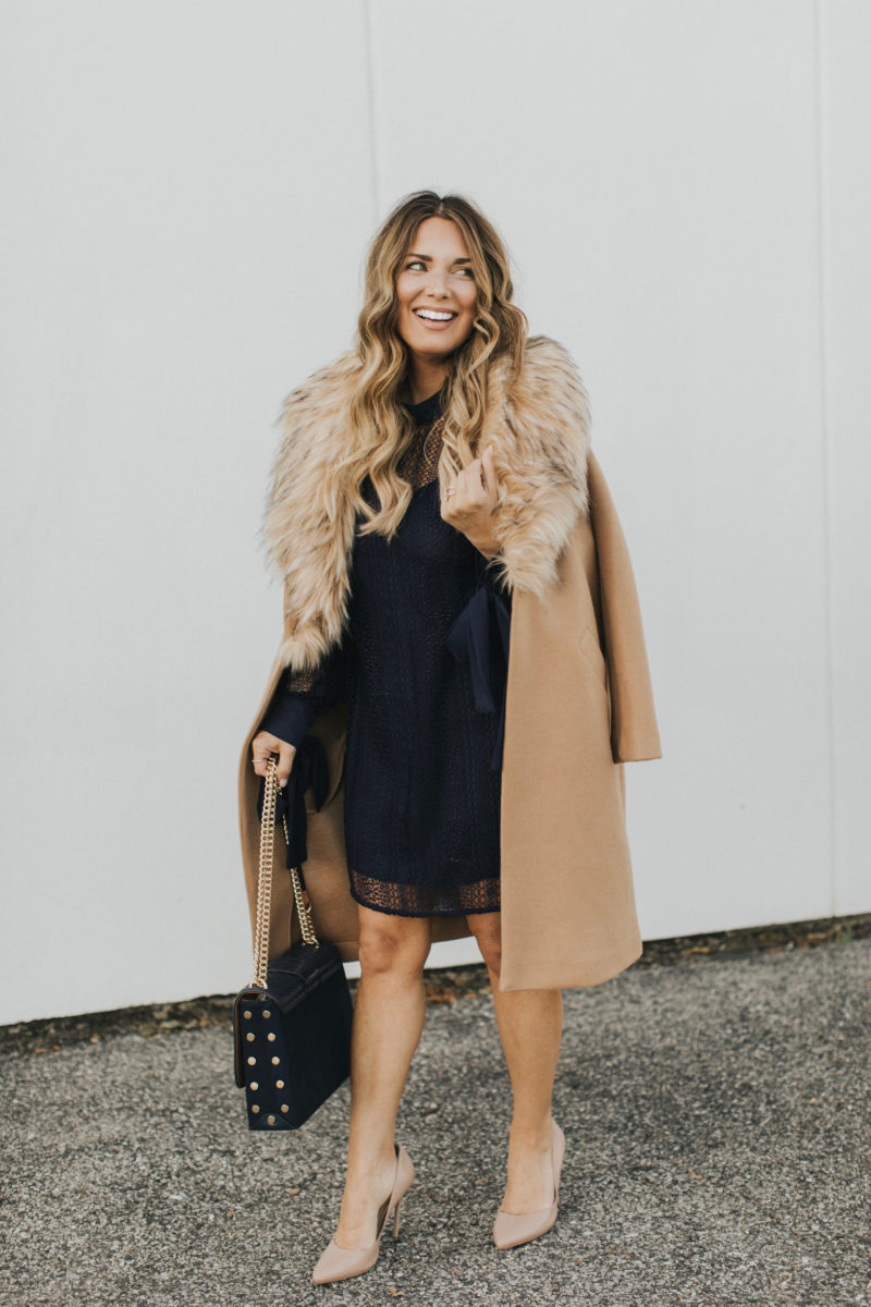 HOLIDAY PARTY OUTFIT OPTIONS. READ MORE TO FIND LACE DRESSES AND FUR COATS.