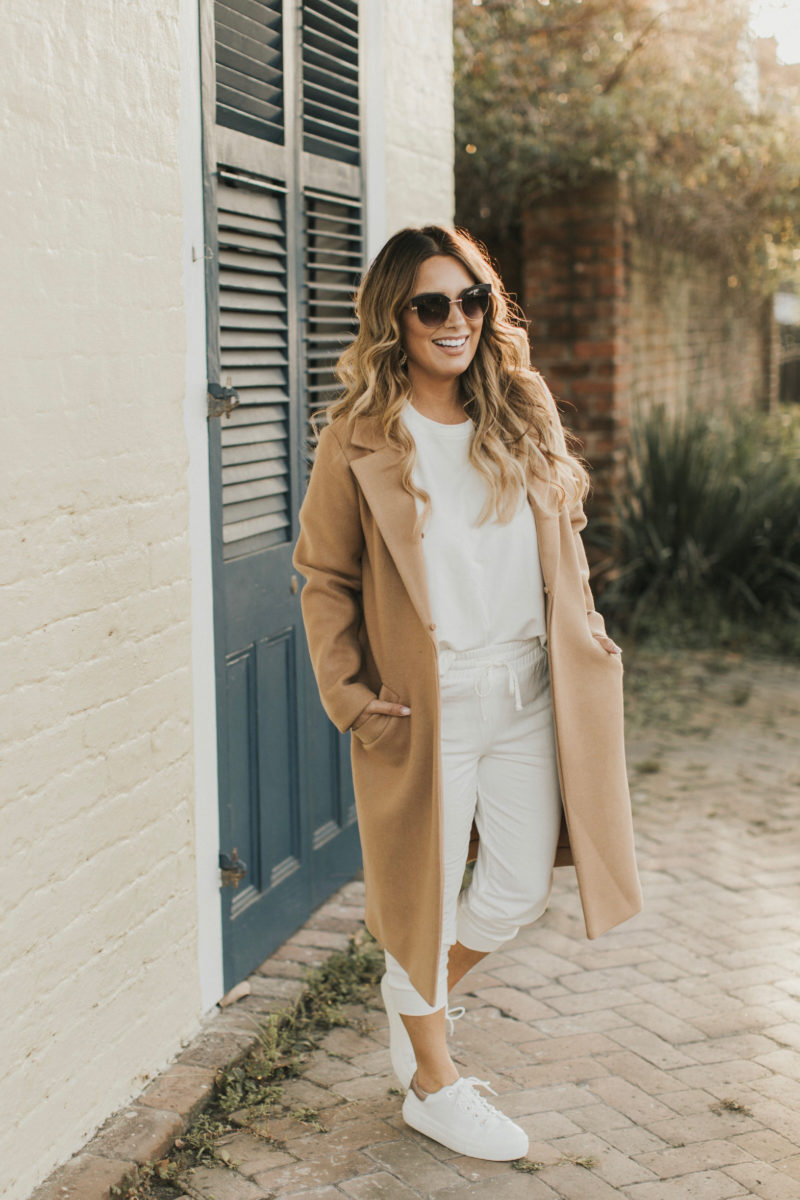 KEEP THE CLASSICS AND TOSS THE REST. READ MORE ABOUT THIS CAMEL COAT AND TWO PIECE SET.