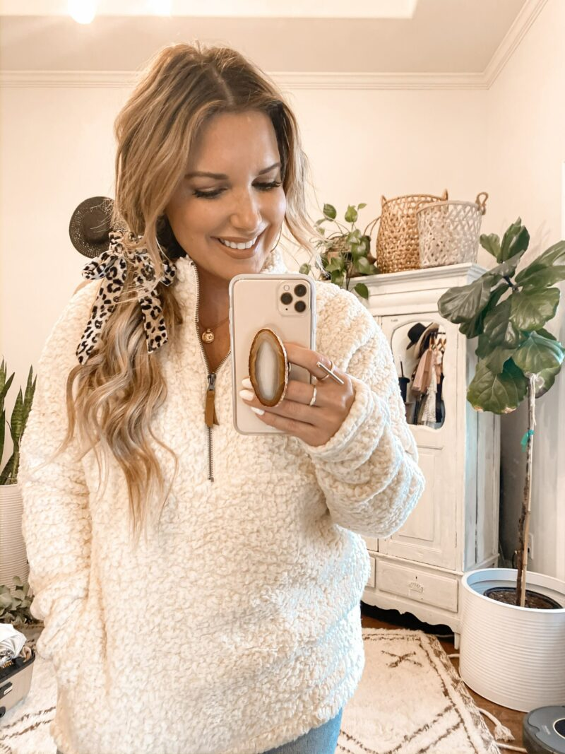 AFFORDABLE SWEATERS, SHERPA PULLOVERS, JEANS, JACKETS AND MORE- ALL UNDER $35!! SET OF HAIR TIES FOR ONLY $5!! FULL WALMART TRY-ON HAUL IS LIVE ON THE BLOG.