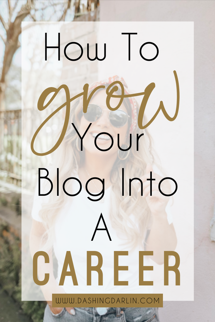 How to turn your blog into a CAREER. How to make money blogging. Sharing all of my tips. #bloggingtips #makemoneyblogging #blogging101 #fulltimeblogging