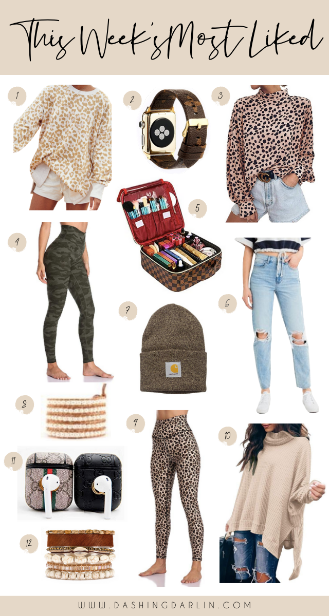 ROUNDED UP THE TOP FAVORITES FOR THE WEEK- LEOPARD LEGGINGS, APPLE WATCH BAND, AIRPOD CASE AND MORE!!