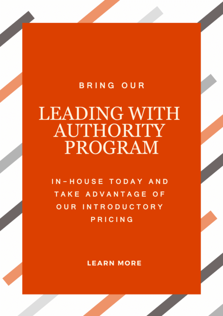 Leading With Authority Brochure Image