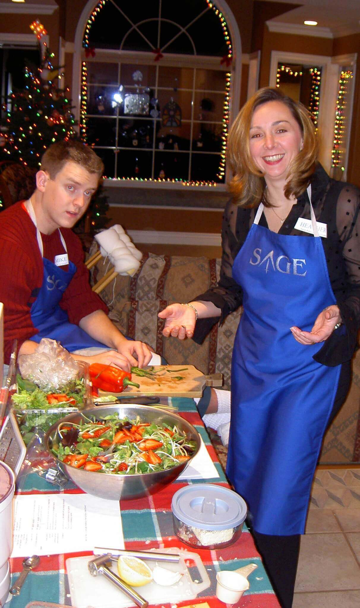 Heather Hilliard Sage Cooking Party
