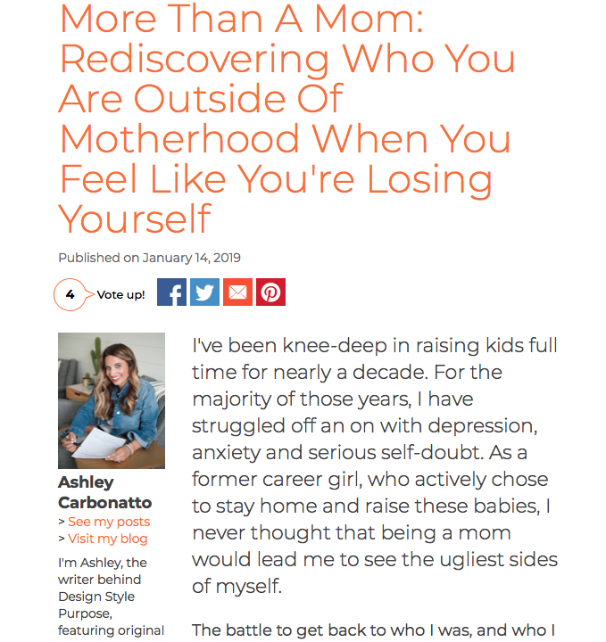 More Than A Mom: Rediscovering Who You Are Outside Of Motherhood When You Feel Like You're Losing Yourself