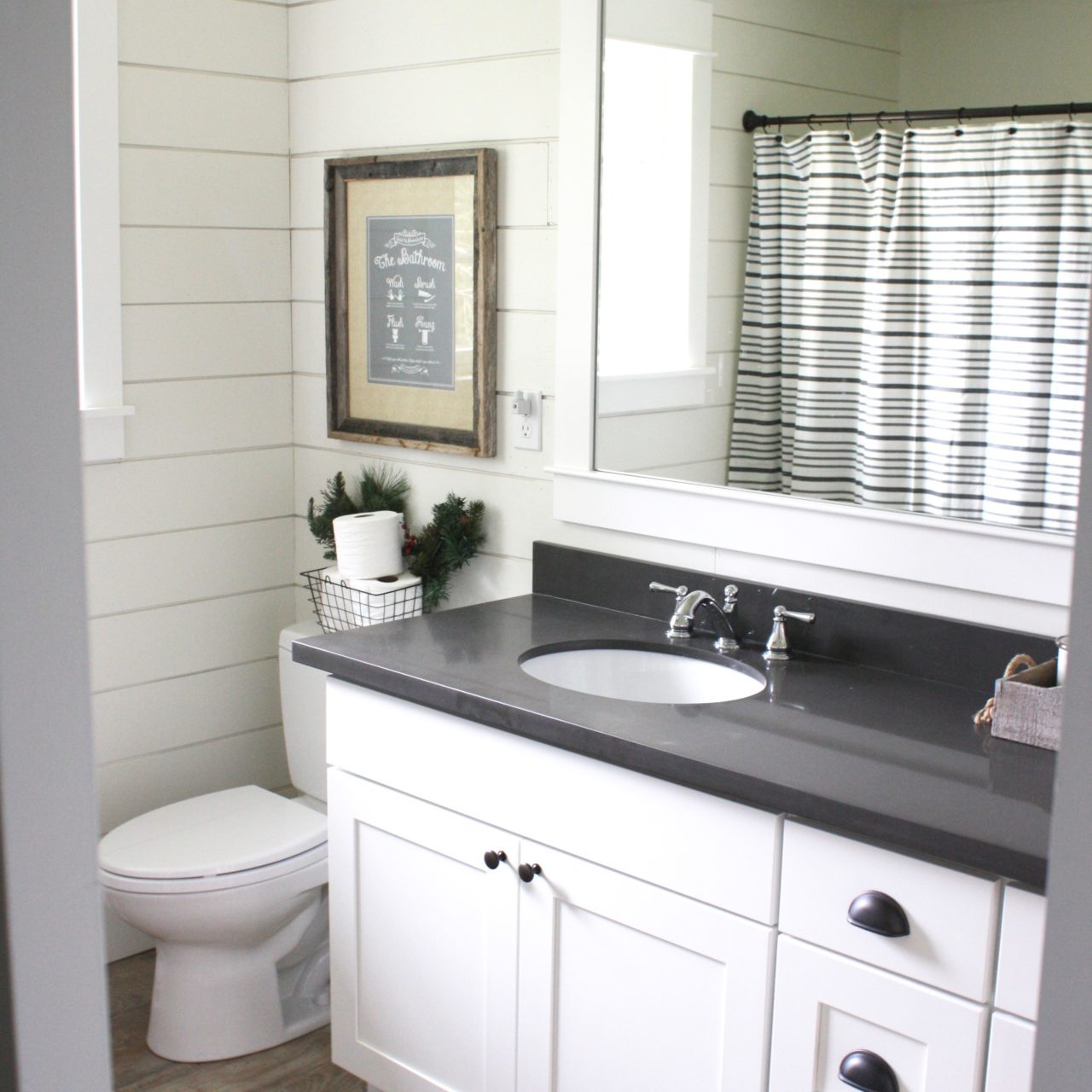 Suburban Farmhouse Interior Bathroom Remodel