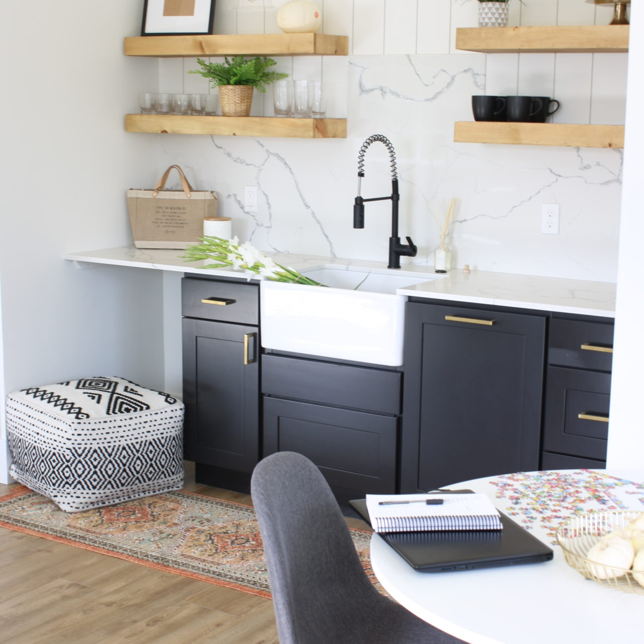 Scandinavian Farmhouse Kitchenette – Sources