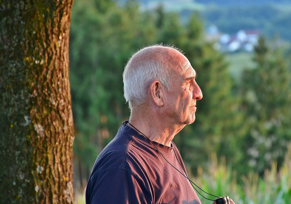 Man Hiking In Retirement Nature Male Senior