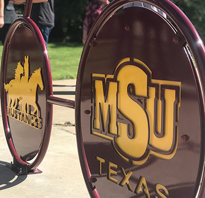 Midwestern State University Bike Rack Downtown