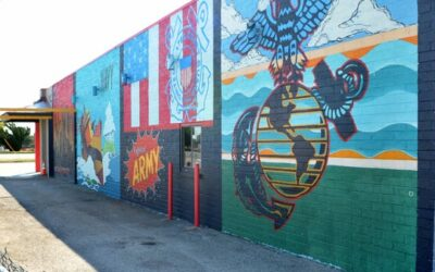 Mural saluting all the branches of the military