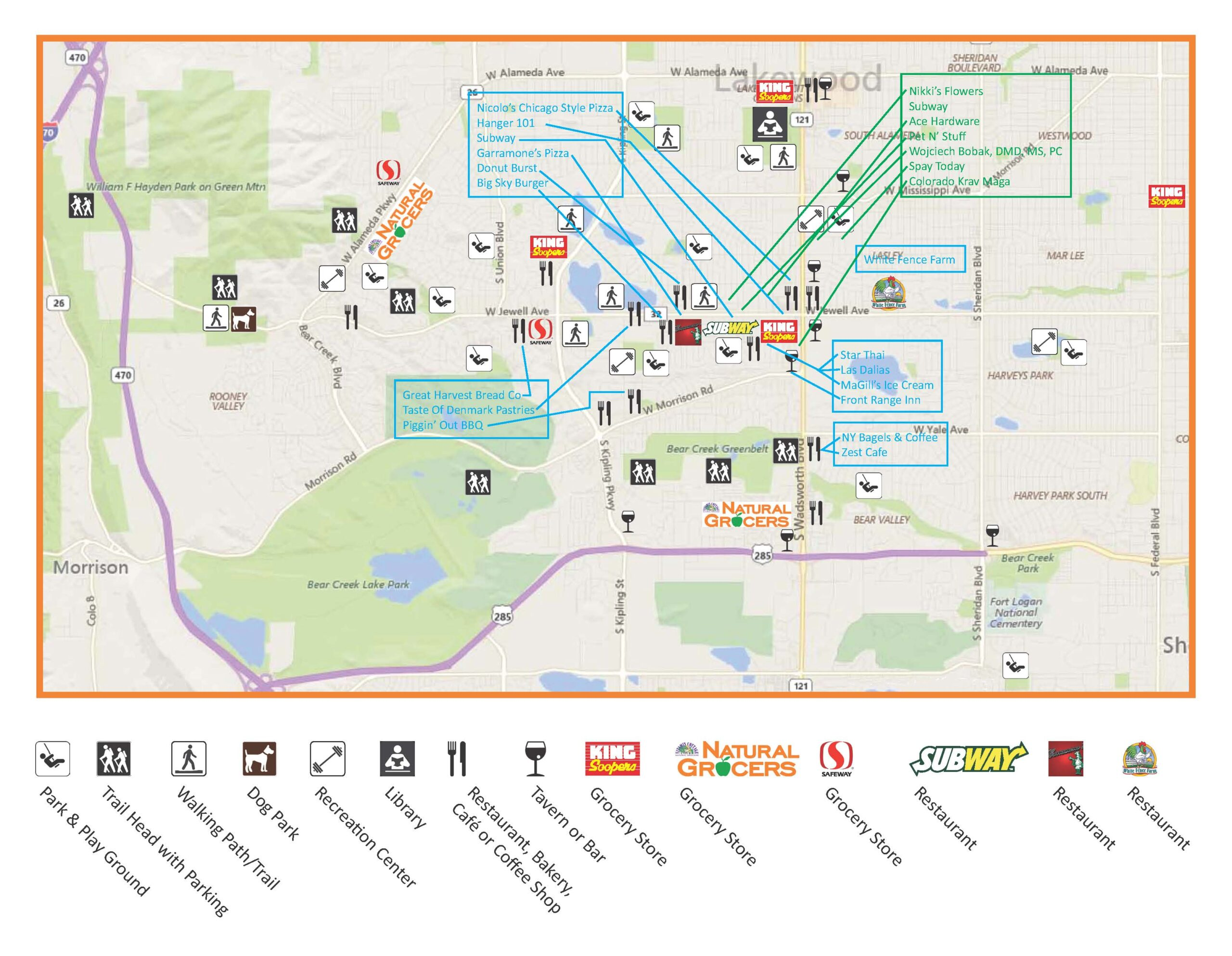 Southern Gables Business Supporters Map