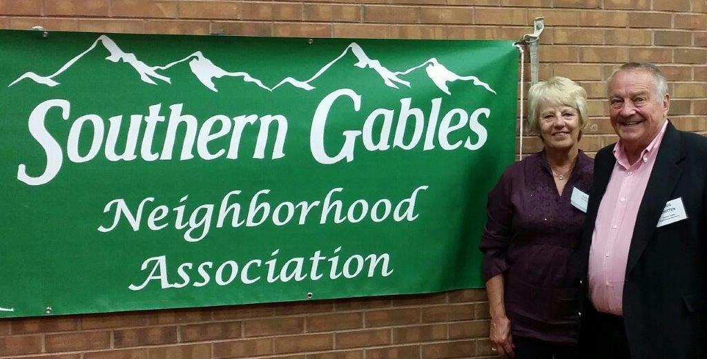 Doug and Judy Whitten With Southern Gables Sign