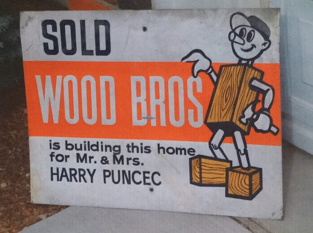Wood Bros. Sold sign, Southern Gables, Harry and Judi Puncec