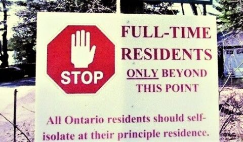 no cottager sign front