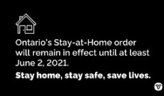 ontario stay at home black front
