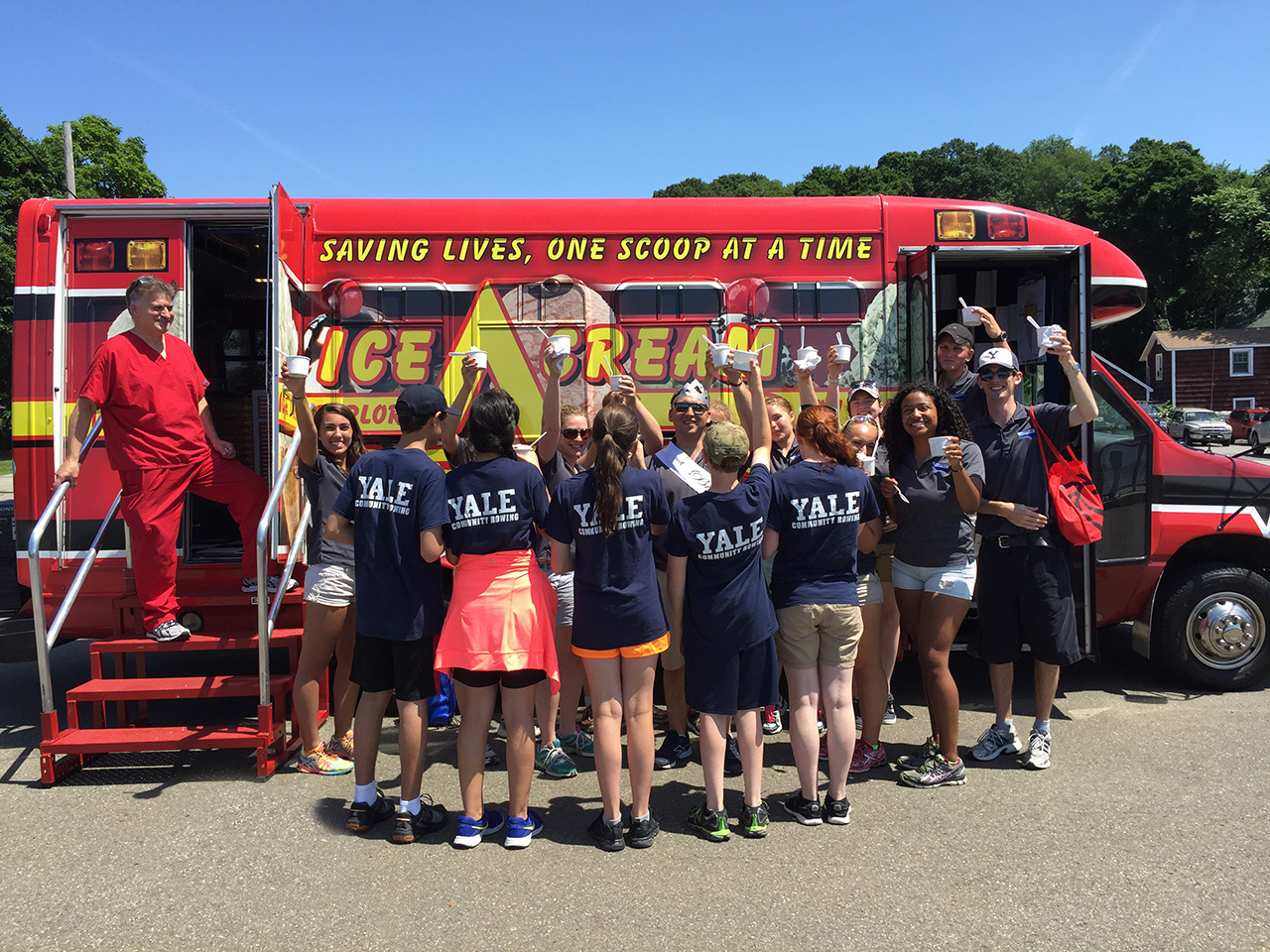 Ice Cream Bus at Yale