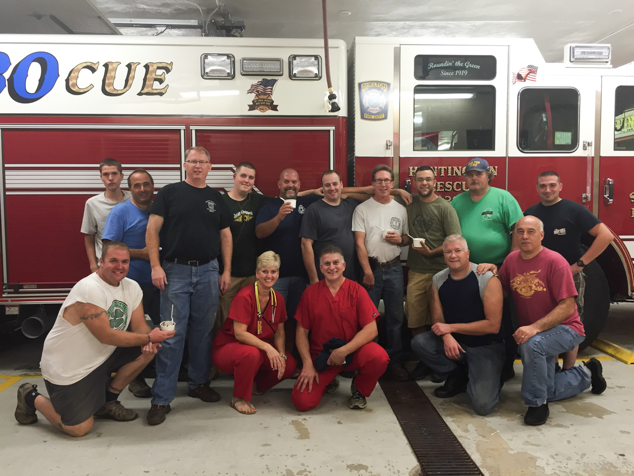 Fire Department Event with Ice Cream Emergency