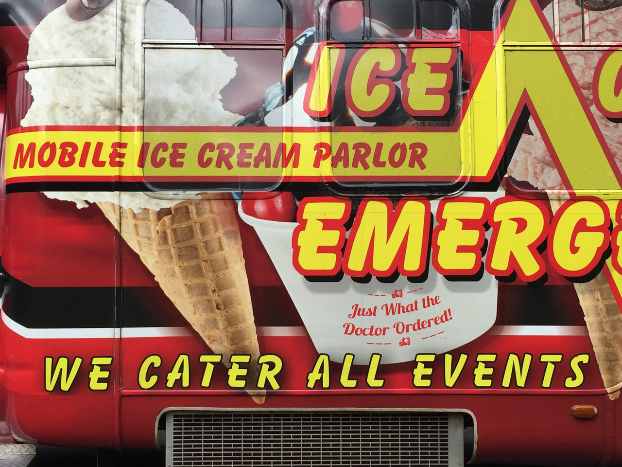 Ice Cream Emergency Decals