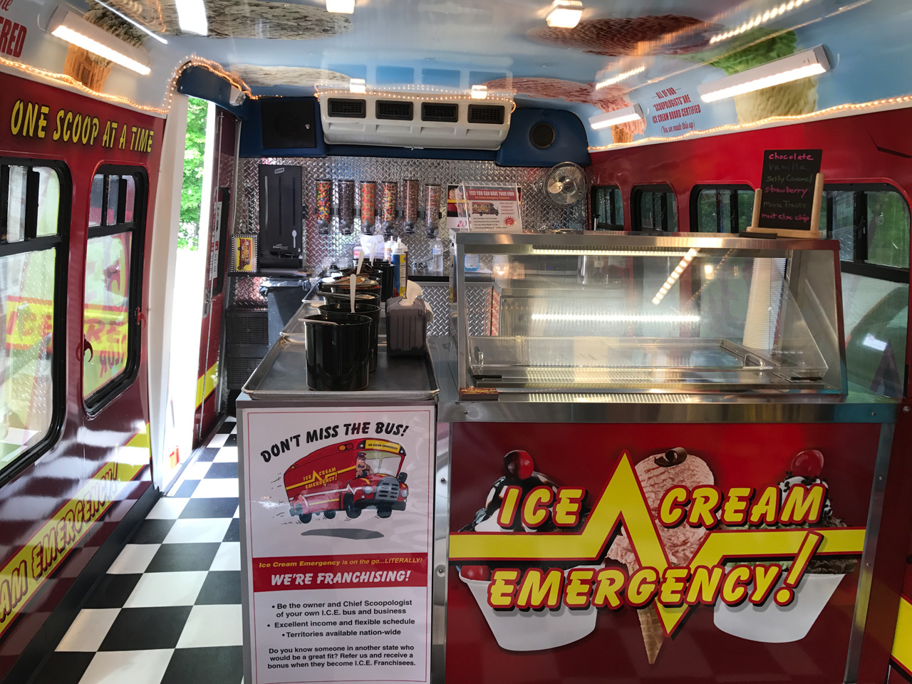 Photo of inside the Ice Cream Bus