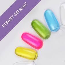 Tiffany gel&lac - glassy effect