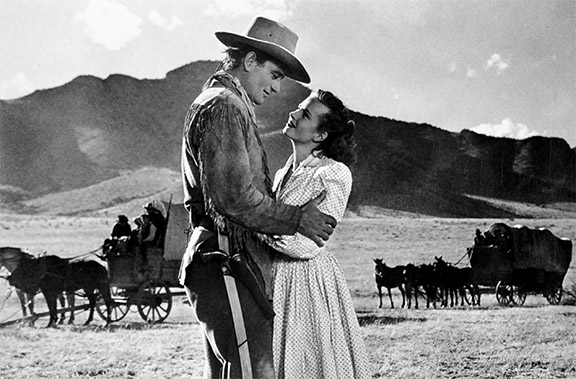 BP9R2K JOHN WAYNE & JOANNE DRU RED RIVER (1948)